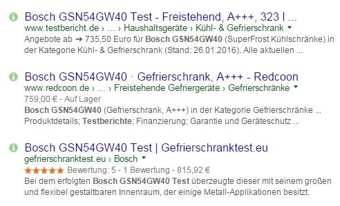 sterne in google