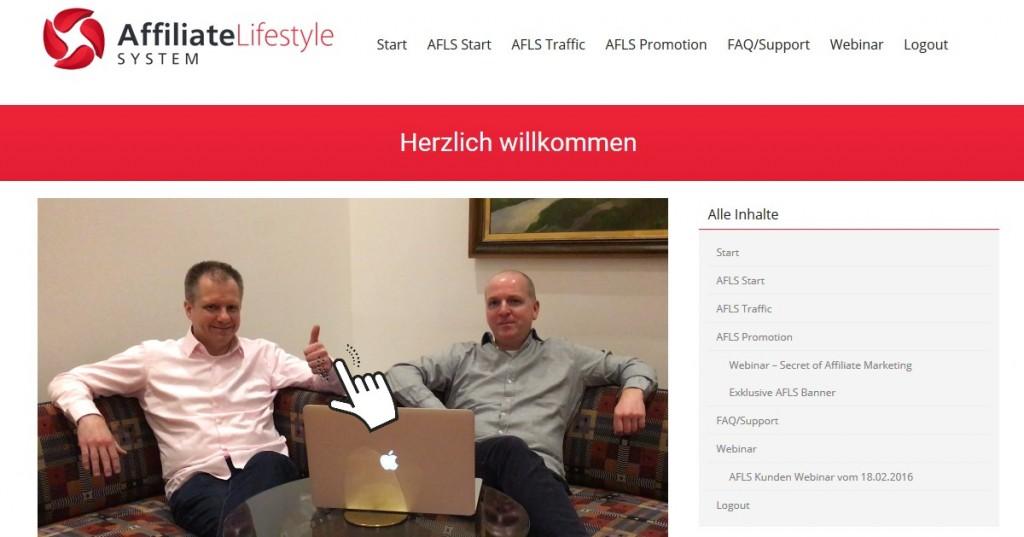 affiliate lifestyle system mitgliederbereich