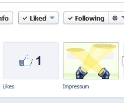 Facebook Fanpage – ein Impressum einbinden